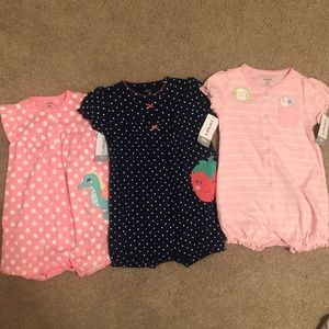 Carter's NWT button-up onesies